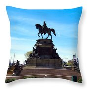 George Washington Monument Throw Pillow
