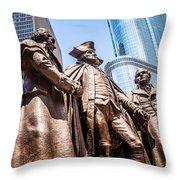George Washington-robert Morris-hyam Salomon Memorial Statue Throw Pillow