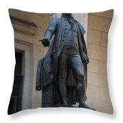 George Washington Statue Throw Pillow