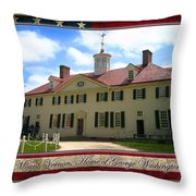 George Washington's Mount Vernon Throw Pillow