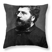Georges Bizet (1838-1875) Throw Pillow