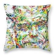 Georges Brassens Portrait Throw Pillow