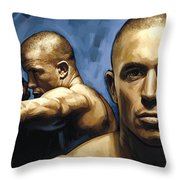 Georges St-pierre Artwork Throw Pillow