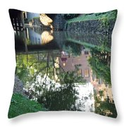Georgetown Canal Reflections Throw Pillow