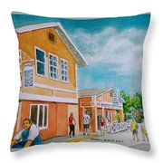 Georgetown Grand Cayman Throw Pillow