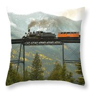 Georgetown Loop Ralroad Throw Pillow