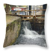 Georgetown Memories  Throw Pillow by Olivier Le Queinec