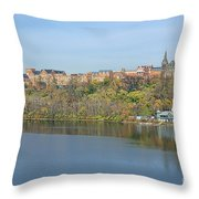 Georgetown University Neighborhood Throw Pillow by Olivier Le Queinec