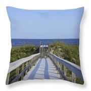 Georgia Boardwalk Throw Pillow