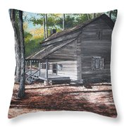 Georgia Cabin In The Woods Throw Pillow