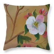 Georgia Flowers - Apple Blossoms- Stretched Throw Pillow