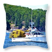 Georgia Madison Lobster Boat Throw Pillow