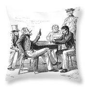 Georgia: Poker Game, 1840s Throw Pillow