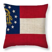Georgia State Flag Throw Pillow