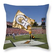 Georgia Tech Touchdown Celebration At Uva Throw Pillow