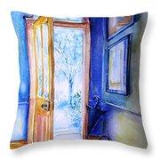 Winter Doorway Ireland    Throw Pillow