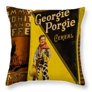 Georgie Porgie Throw Pillow
