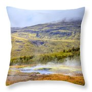 Geothermal Pools Throw Pillow