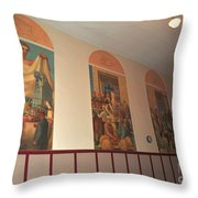 Gerald Mast Murals In Clare Michigan Throw Pillow