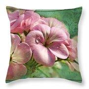 Geranium Blossoms Photoart Throw Pillow