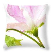Geranium Pink Throw Pillow