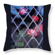 Geraniums Under Glass In Wales Throw Pillow