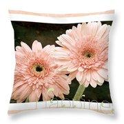 Gerber Daisy Happiness 5 Throw Pillow