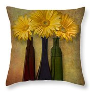 Gerbera Trio Throw Pillow