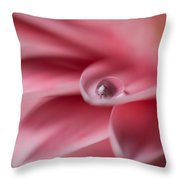 Gerbera With Water Droplet Throw Pillow