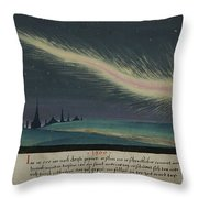 German Comet Illustration Throw Pillow