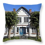 German Country House  Throw Pillow by Heiko Koehrer-Wagner