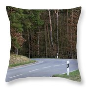 German Country Road Throw Pillow