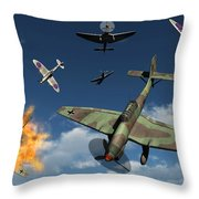 German Ju 87 Stuka Dive Bombers Throw Pillow