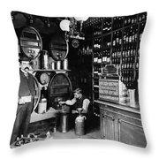 German Rathskellar 1900 Throw Pillow