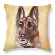 German Shepard Portrait Lala Throw Pillow