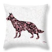 German Shepherd - Animal Art Throw Pillow