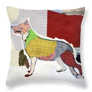 German Shepherd Throw Pillow by Michel Keck