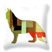 German Sheppard 2 Throw Pillow by Naxart Studio