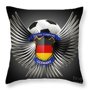 German Soccer Champions Throw Pillow