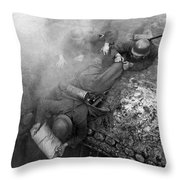 German Soldiers Launch A Suprise Attack On Bunker 17. Throw Pillow
