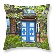 German Timber-framed Country House Throw Pillow