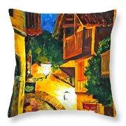 German Town Throw Pillow