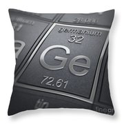 Germanium Chemical Element Throw Pillow