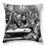 Germany: Beer Cellar, 1875 Throw Pillow