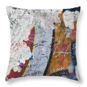 Germany, Berlin Wall Berlin Throw Pillow