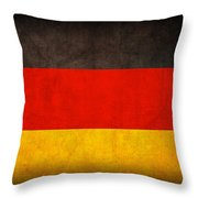 Germany Flag Vintage Distressed Finish Throw Pillow by Design Turnpike