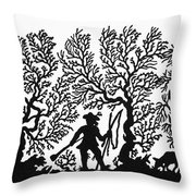 Germany Silhouette Throw Pillow