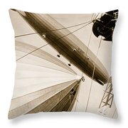 Germanys Two Mighty Airships, The Graf Throw Pillow