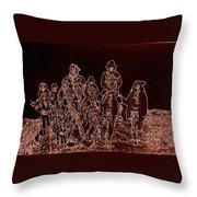 Geronimo And Family Surrendering Collage Number 2 C.s. Fly 1887-2012 Throw Pillow