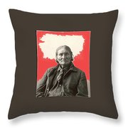 Geronimo Portrait R. Rinehart Photo Omaha Nebraska 1898-2013 Throw Pillow